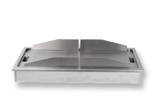 Berner BGE970 55x97 cm beidseitig bedienbare Gastro-Einbaugriddplatte
