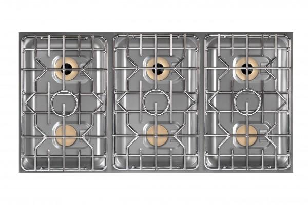Berner BEG6S70 Einbaugaskochfeld 6-flammig für individuelle Gastronomieküchen