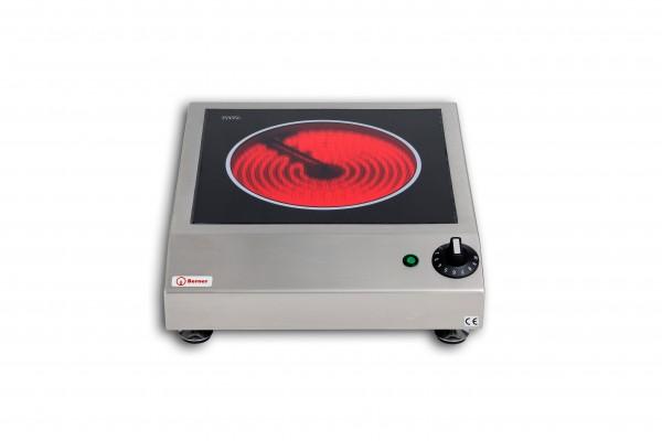 Berner BMS Cerankochfeld Tischgerät mit Strahlungsheizkörper