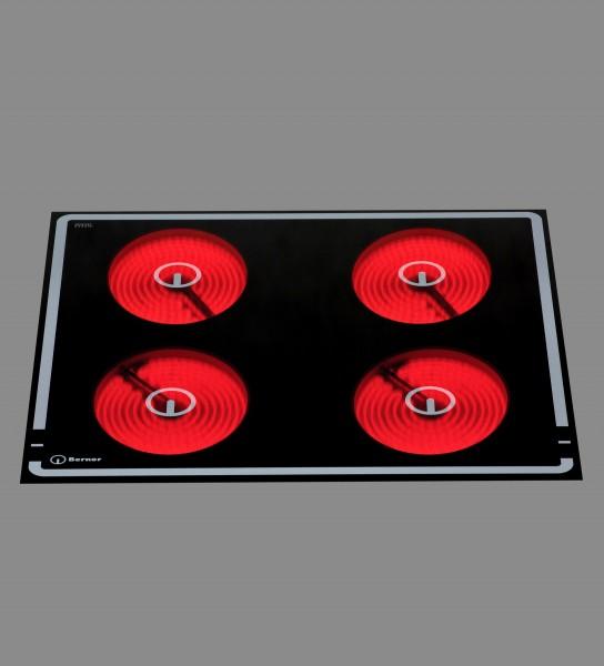 Berner BS4CEGT 4-Zonen Glaskeramikherd mit automatischer Topferkennung