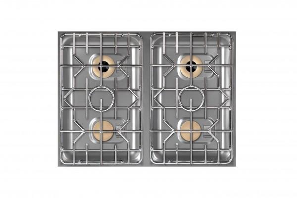 Berner BEG4S70 4-Flammen Einbaugaskochfeld für Gastronomieküchen