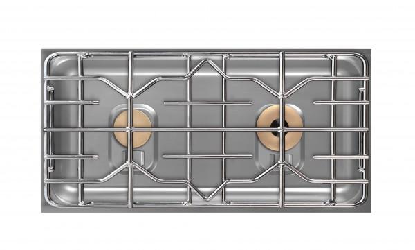 Berner BEG2S85Q Querformat-Einbaukochfeld Gas für Gastronomieküchen