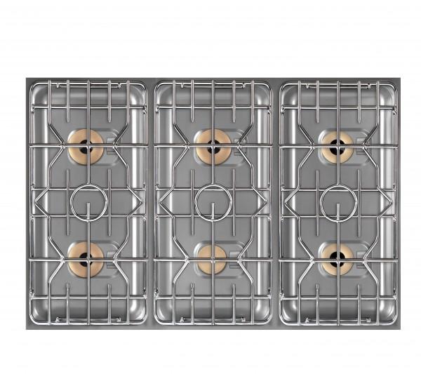 Berner BEG6S85 Gaskochplatte 6-flammig als Einbaumodul für Gastroküchen