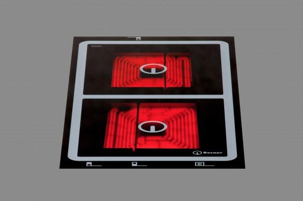 Berner BS2ZEGA Zweikreis-Quadratkochplattenfeld mit 2 Kochzonen zu 3000 Watt