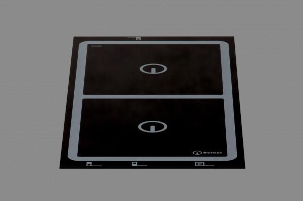 Berner BI2EGA10, Induktionskochfeld, 2 Quadratische Punktstar-Spulen