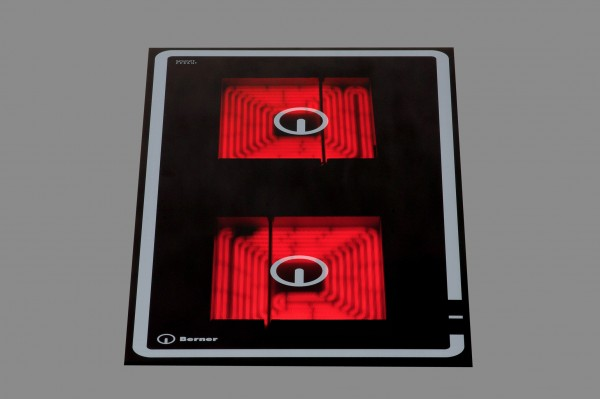 Berner BS2CEGPB Quadratplatten-Einbaukochfeld mit 2 Speedstar Kochzonen und Topferkennung