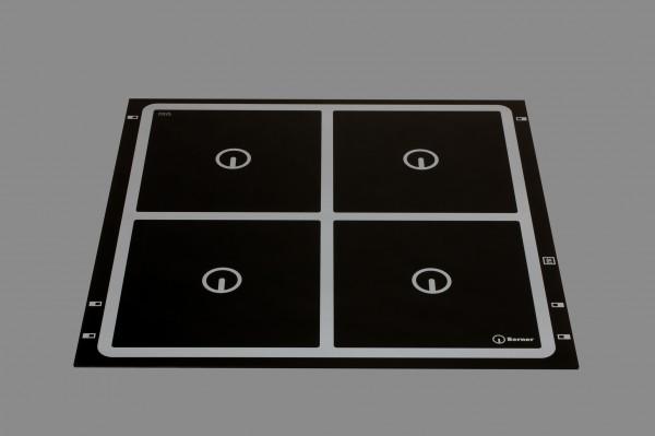 Berner BI4EGALK28, Induktionskochfeld, kombinierte quadratische Spulen, 4 Kochstellen