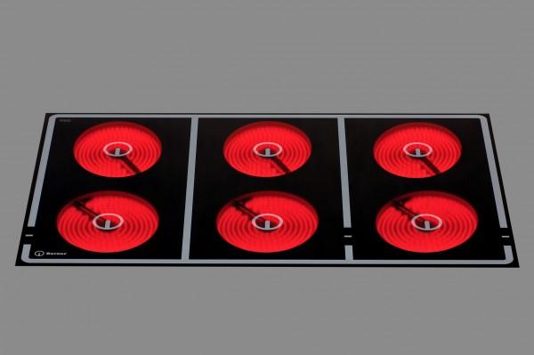 Berner BS6CEGKA 21.000 Watt Speedstar-Ceranfeld mit 6 Kochzonen Glaskeramik