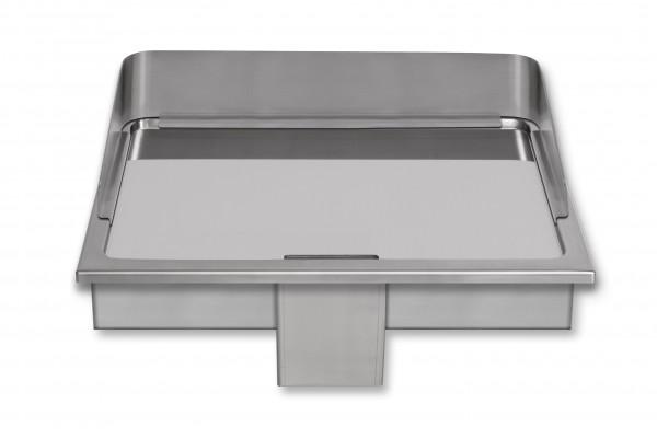 Berner BGE80C hartverchromte Einbaugriddleplatte für die Gastroküche