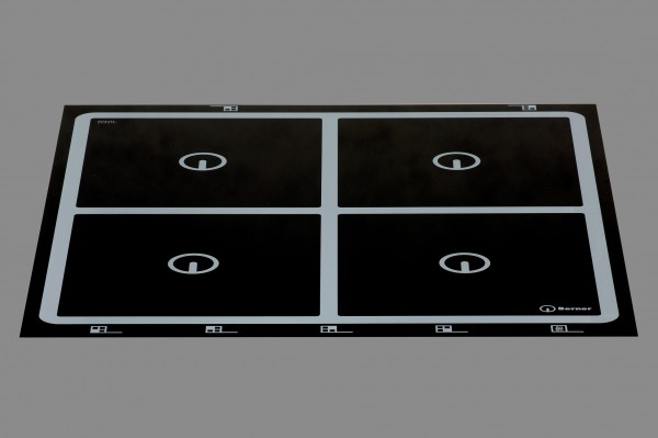 Berner BI4EGA14 - Einbaukochfeld Induktion, 4 Kochstellen, punktstar quadratisch