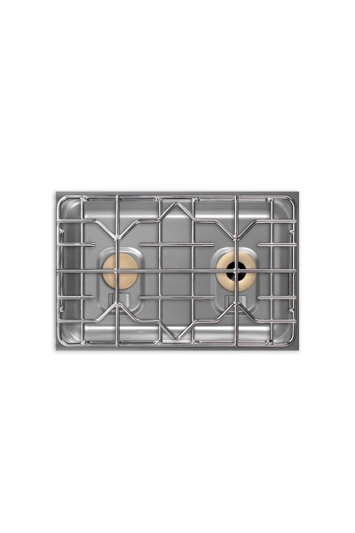Berner BEG2S70Q Querformat-Gaskochfeld mit 2 Flammen für Gastronomiekochzeilen