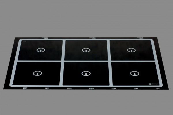Berner BI6EGA30 - Induktionskochfeld, 6 quadratische Punktstar-Spulen