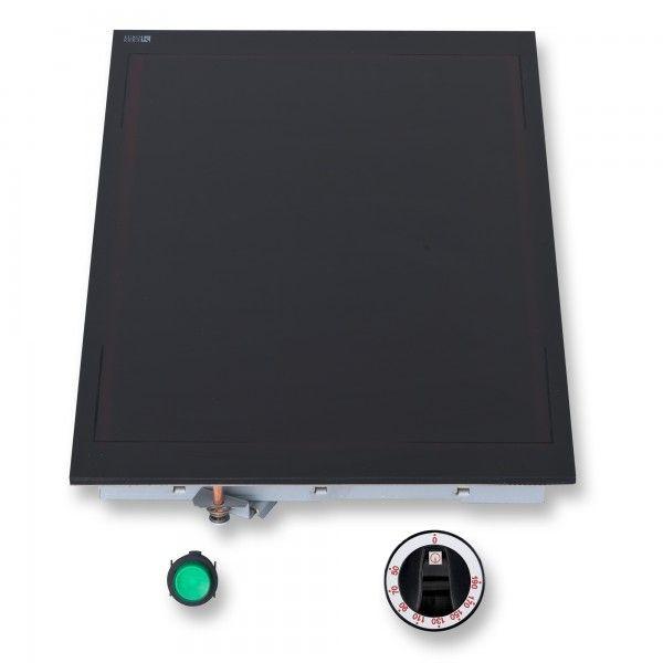 Berner WH35LB Glaskeramik-Warmhalteplatte bis 110 Grad Ceranglas schwarz