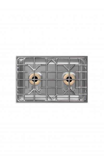 Berner BEG2P70Q Gastronomie-Einbaugasfeld 2-flammig mit 11.000 Watt