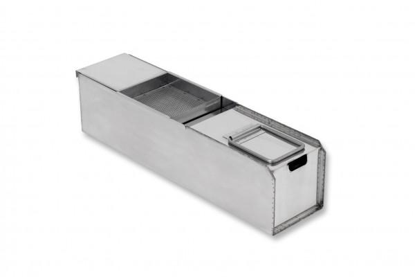 Berner BFABK Fettauffangbehälter für Fritteusen - schmale Ausführung
