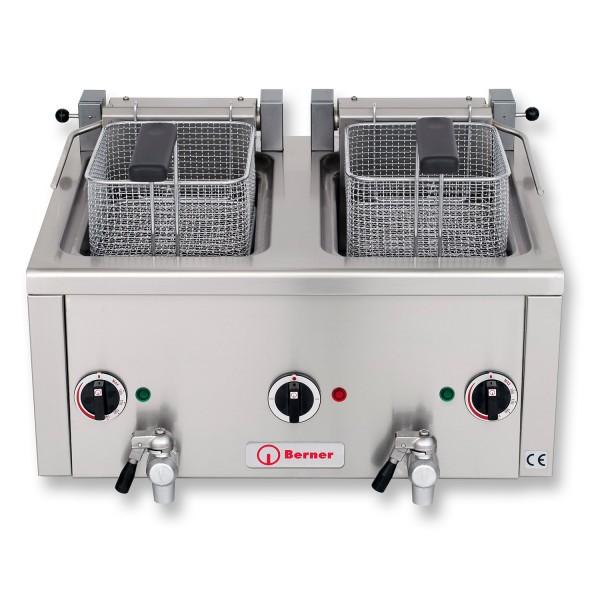 Berner BFSNK2G Elektro Fritteuse Snack Auftisch Fritteuse 2x8 Liter Frittstar