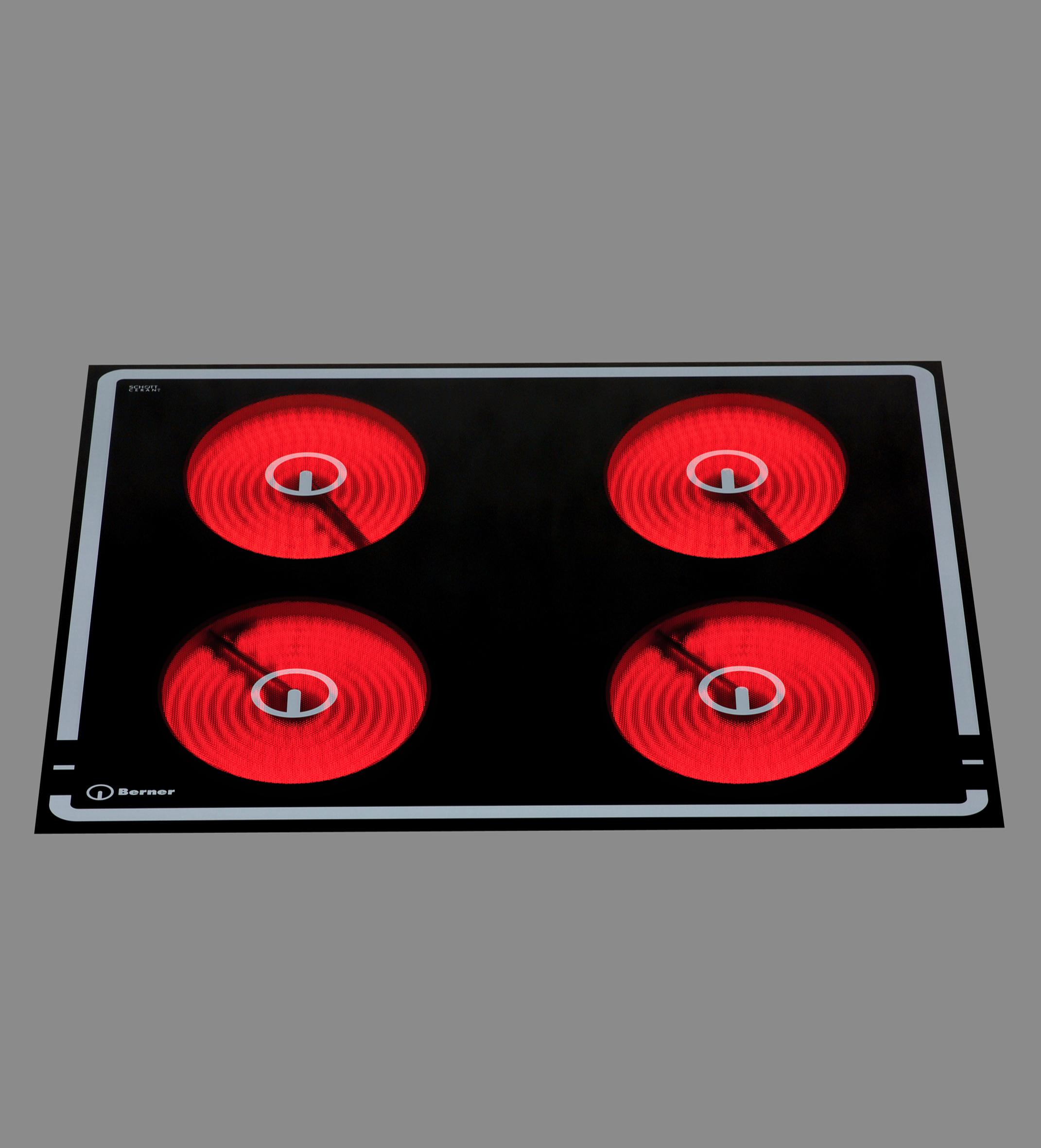 berner bs4cest 12 kw einbauceranherd mit automatischer. Black Bedroom Furniture Sets. Home Design Ideas