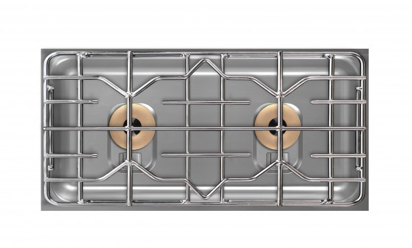 Berner BEG2P85Q 2-Platten Gaskochfeld quer mit 15000 Watt für gastronomische Profiküchen