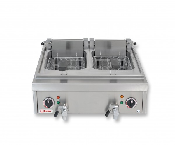 Berner BF2KTTS Tisch-Fritteuse 2 x 8 Liter