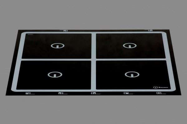 Berner BI4EGA20 - Induktionskochstelle, 4 x quadratische Spulen, punktstar