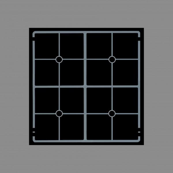 Berner BI4EGVM13, Induktionskochfeld mit Vollflächenstar-Spulen, getrennt regelbare Kochstellen