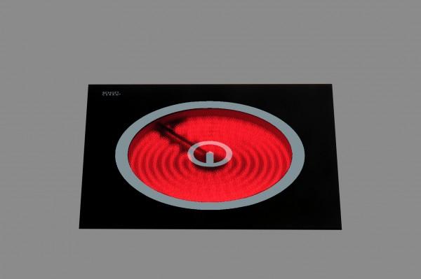 Berner BS1PEG Glaskeramik-Einzelkochplatte als Einbaugerät