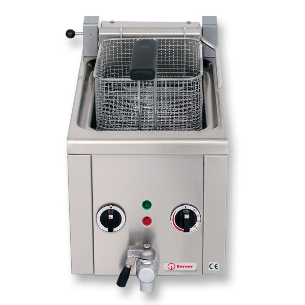 Berner BFSNK1SG Elektro Fritteuse Snack Auftisch Fritteuse 8 Liter Frittstar