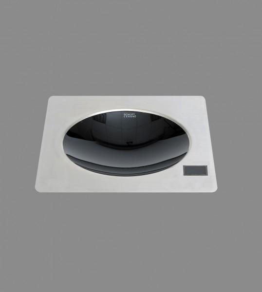 Berner BWEB5 30 cm Induktionswok-Einbaugerät mit 5000 Watt für Gastronomieküchen