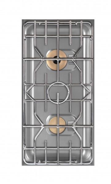 Berner BEG2S85 Gas-Einbauherd zweiflammig für Edelstahlküchen im Gastronomiebereich