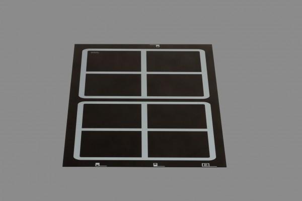 Berner BI2EGL10 Induktionskochstelle, 2 quadrat.Punktstarspulen, hintereinanderliegend