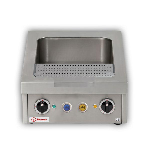 Berner BNKZKTT Tisch-Nudelkocher GN 2/3 x 150 automatischer Zu- und Ablauf