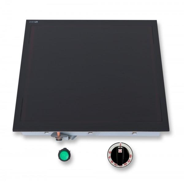 Berner WHF56 Fortkochplatte 350° C mit Glaskeramik und 2500 Watt für Gastronomieküchen