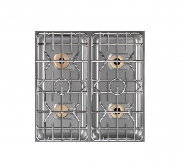 Berner BEG4S85 Einbaugasherd 4-flammig für gastronomische Edelstahlküchen