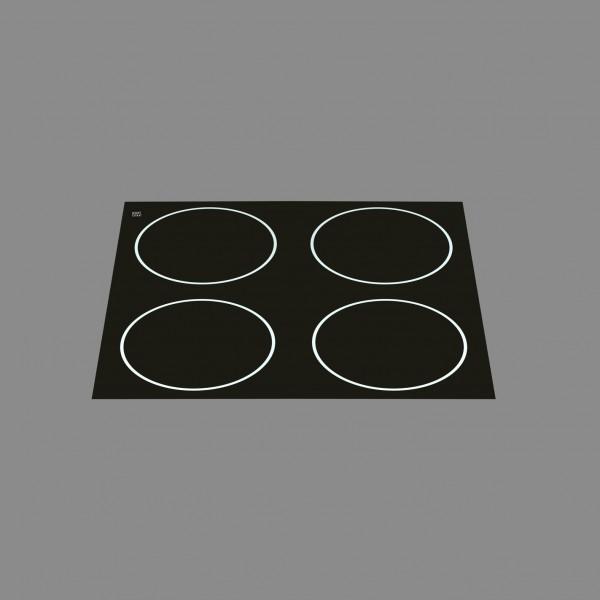 Berner BI4EG10M, Einbaukochstell Induktion, 4 Punktstar-Spulen