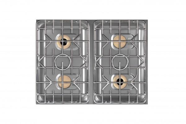Berner BEG4D70 4-Flammen Gasherd-Einbaumodul für Edelstahlküchen