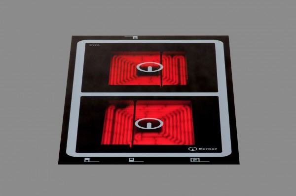 Berner BS2PEGAB Quadratzonen-Doppelkochplatte mit Speedstar & Topferkennung